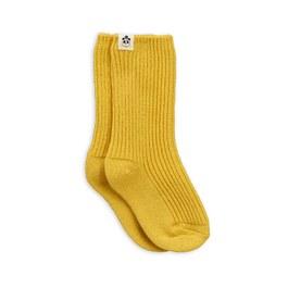 黃色羊毛中筒襪