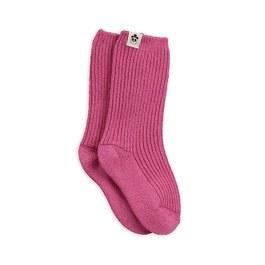 粉色羊毛中筒襪