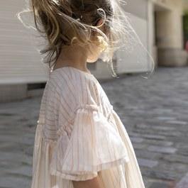 Baby Margot 條紋飛飛袖洋裝