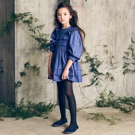 Liesl 迷幻藍星塵七分袖洋裝