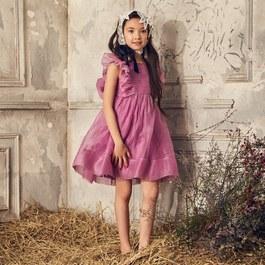 MAE 紫羅蘭雪紡蓬裙小禮服