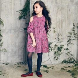 Vanessa 花圈絲質蓬裙洋裝