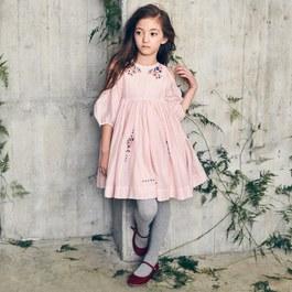 Vanessa 花朵刺繡蓬裙洋裝