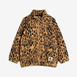 Baby 豹紋抓毛絨立領夾克