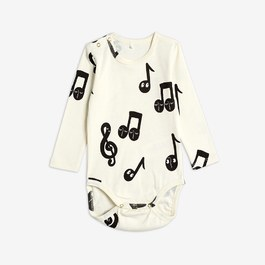 Baby 音符有機棉連身衣