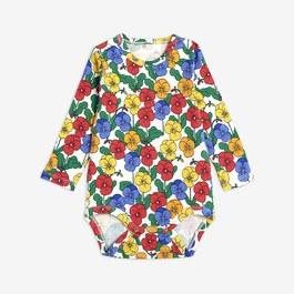 Baby 三色堇有機棉連身衣