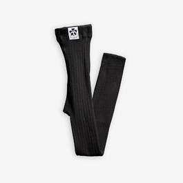 黑色有機棉羅紋leggings(貼身版)