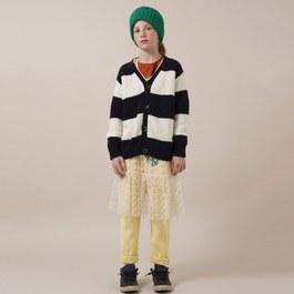 黑白條紋混羊毛針織外套(版型偏大)