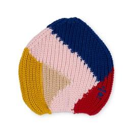 美麗諾羊毛撞色毛帽