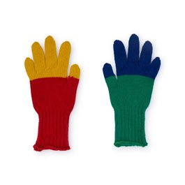 美麗諾羊毛撞色手套