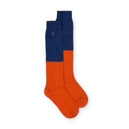 雙色及膝襪