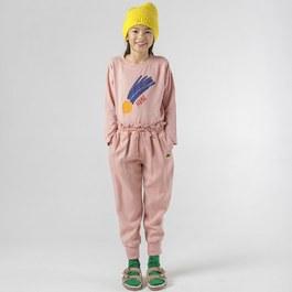 粉色天絲棉休閒褲(寬鬆版)