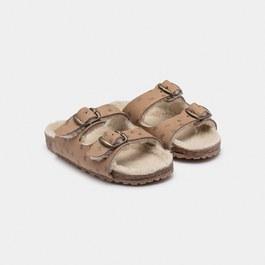 羊皮星星皮革涼鞋