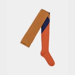 幾何色塊褲襪