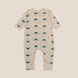 Baby 小雨傘微刷毛連身衣(版型偏大)
