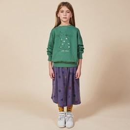 復古刷色絲質中長裙(版型偏大)