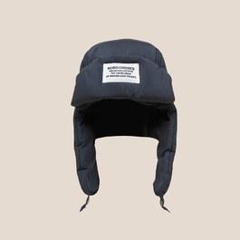 時髦黑色尼龍飛行帽