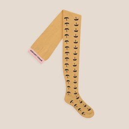 小雨傘芥末黃褲襪
