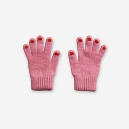 粉色混羊毛手套