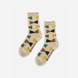 幾何圖案短襪