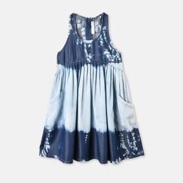 Poco 手染藍天絲棉洋裝