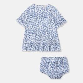 Baby Viola 手繪星星五分袖絲質洋裝