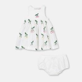 Baby 櫻桃刺繡洋裝