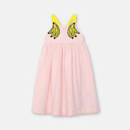 香蕉造型長版棉質洋裝