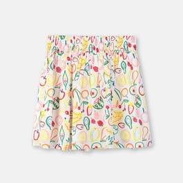 夏日水果薄棉圓裙