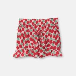 小櫻桃絲質短褲