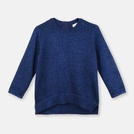 Jewel 閃亮藍薄款套頭衫(偏短版)