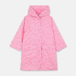 霓虹粉星星長版雨衣外套