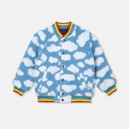 太陽雲朵毛茸茸夾克(兩面穿)