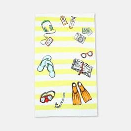 海灘大毛巾(可收納成包款)