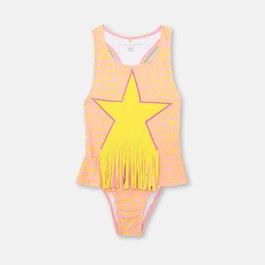 粉色超新星流蘇泳衣