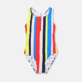 條紋豹紋泳衣