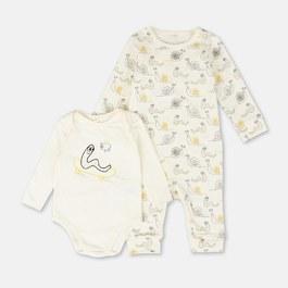 Baby 超柔軟有機棉連身衣兩件組禮盒