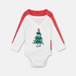 Baby聖誕有機棉連身衣兩件組禮盒