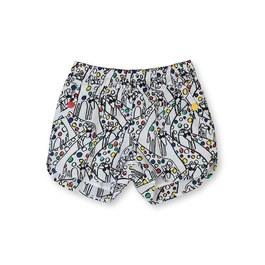 長頸鹿藝術點點薄棉短褲