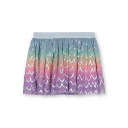 彩虹漸層波浪小蓬裙