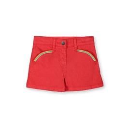紅色彩虹丹寧短褲
