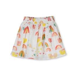 印象彩虹薄棉短裙
