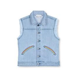 彩虹抽鬚丹寧背心外套