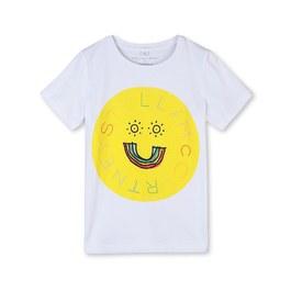 笑臉彩虹logo有機棉Tee