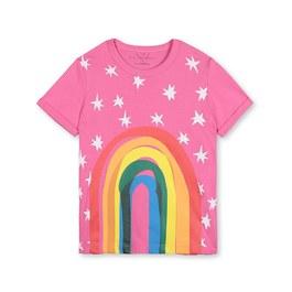 彩虹星星有機棉上衣