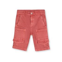 磚紅丹寧刷色五分褲
