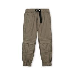 軍綠口袋工作褲(薄款)