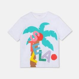 Logo棕櫚樹有機棉上衣(版型偏大)