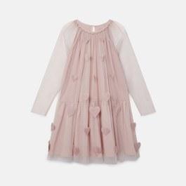 立體愛心薄紗洋裝