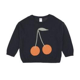 Baby 櫻桃棉質針織上衣(版型偏大)